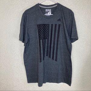 Adidas American Flag T Shirt Size XL